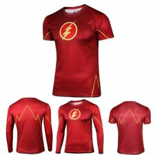 The Flash Superhero Marvel Long Sleeve Tee T-Shirt Bicycle Sports Cycling Jersey