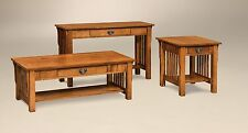 Amish Mission Craftsman Occasional Table Set Quarter Sawn White Oak Coffee End