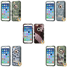 Stylish Camouflage Hybrid Stand Cover Protector Phone Case for Apple iPhone 6 6s