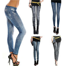 Sexy Women Skinny Jeggings Stretchy Pants Soft Denim Jean Pencil Tights Hot Sale