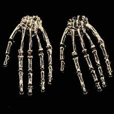 1Pair Fashion Cool Rock Punk Gothic Skeleton Skull Hand Ear Stud Earrings