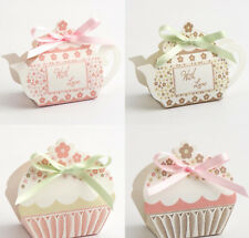 Tea Pot and Cup Cake Favour Boxes Vintage Wedding Party Gift