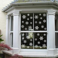 Reusable Snowflake Window Cling Sticker Packs Christmas Decoration Static PVC