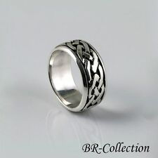 Solid Sterling Silver Celtic Knot Band Ring for Men or Women - Irish Jewelry