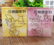 fish frog Sea turtles snail metal Paperclips Office Stationery Bookmarks jy