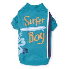 CASUAL CANINE SURFS UP SURFER BOY DOG PUPPY PET CAT BLUE AQUA SHIRT XXS XS S/M L