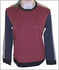 Bnwt Mens Fcuk French Connection Long Sleeved T Shirt Top Maroon New