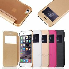 Flip Leather Wallet Smart View Skin Cover Case For Apple iPhone 6/ 6 Plus + Film