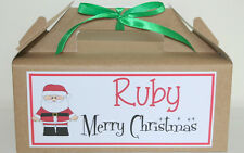 Personalised Christmas Eve Gift Box Kraft Brown Present Party Favour Activity