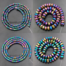 Multi-Color Hematite Rondelle Beads 16'' 2mm 3mm 4mm 6mm 8mm Smooth Faceted
