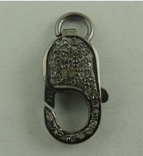 1 Pc Pave Diamond Lobster Clasp-18mmx9mm 925 Sterling SilverPave LB090