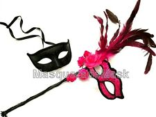 Masquerade stick mask couple dress up costume Halloween birthday Dance Party