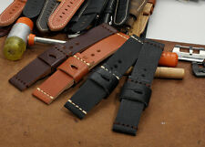 24mm Genuine Calf Leather Vintage Watch Band Strap fit Panerai Luminor Mens