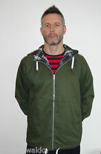 OLIVE GREEN ANORAK WITH TARTAN LINING POP BOUTIQUE MODS SCOOTER NORTHERN SOUL