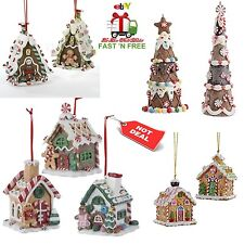 Christmas Ornaments Tree Gingerbread House Hanging 3D Decor Clay Dough Gift Set