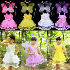 Girls Children's Day Costume Sunflower Princess Dress Angel Butterfly Wings Suit