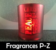 Scented Soy Wax Candle (Scents P-Z) 100% Soy Wax - Large Christmas Tumbler - Red