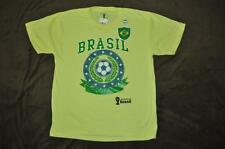 Brazil Soccer 2014 FIFA World Cup Brazil Youth kids T-Shirt Yellow See Sizes NWT