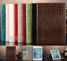 Folio Crocodile Wallet PU Leather Smart Auto SleepWake Case Cover For Apple iPad