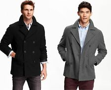 OLD NAVY Men Wool Peacoat Pea Coat REG TALL S,M,L,XL,2XL,3XL,MT,LT,XLT,2XLT,3XLT