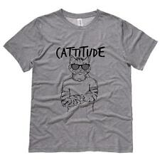 Cattitude Mens Tee Shirt Cats Humor Soft Comfy Top Triblend