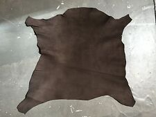 Genuine Lambskin Nappa Full Leather Animal Hide with Dark Brown Tanned Craft 859