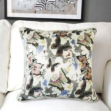 """19"""" Square Soft Cotton Sofa Butterfly Pillow Case Cushion Cover Hotel Home Decor"""