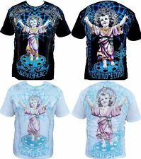 Konflic Mens Baby Jesus Mens T-Shirt Divino Nino Religious Tee All Over Print