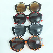 Vintage Mens Womens Unisex Sunglasses Round Lens Frame Glasses Shades FST