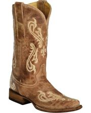 Corral Ladies Cowboy Western Boots Brown Cortez Cleff Embroidery R1976