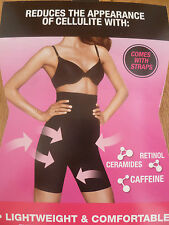 FLEXEES BY MAIDENFORM SMOOTHING HIGH WAIST SLIMMING SHAPER SHORTS BLACK NUDE NEW