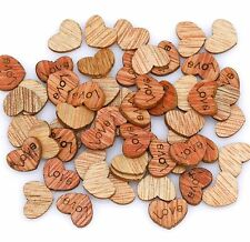 200Pcs Love Heart Wood Loose beads charms Decorations Findings,12x10mm Hot