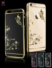 New Luxury Butterfly Clear Crystal Bling Diamond Plating Case Cover For iPhone