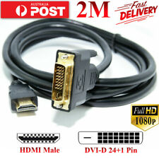 HDMI to DVI-D 24+1 Pin Cable LCD PC Monitor & DVI to Hdmi Female Adapter PS HDTV