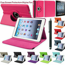 PU Leather 360° Rotating Smart Stand Case Cover For APPLE iPad 2/3/4