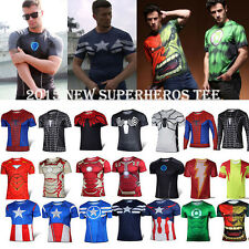 MARVEL Superhero Althletic Long Sleeve Cycling Sports Jerseys Exercise Gym Tops