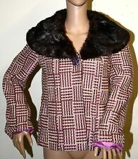 Luxe Designer Inspired New Moda Victorias Secret Pink Tweed Wool Jacket coat