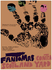 780.Fantomas film Wall Art Decoration POSTER.Graphics to decorate home office