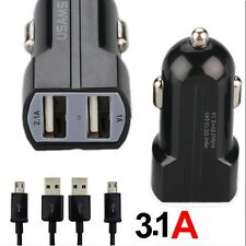 Dual USB Car Charger Adapter Micro USB Cable for Samsung Galaxy S7 S6 Edge Plus