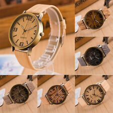 2016 Wooden Quartz Men Watches Casual Wooden Leather Strap Watch Wood Wristwatch