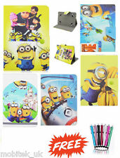 "Despicble Me Universal Leather Stand Case Cover 7"" Inch Tab Android Tablet New!"