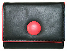 New Womens Mala Leather Small Trifold Purse Style Buttons 32052 Colour Various