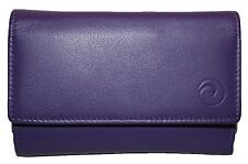 Mala/Origin Medium Leather Flapover Purse with RFID Protection Style  32565 New
