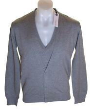 Bnwt Authentic Mens Full Circle V Neck Jumper Cardigan Sweater Grey New Butta
