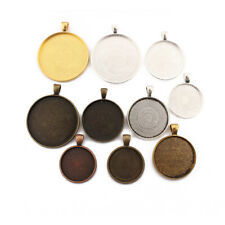 Round Cameo Cabochon Settings Pendants Tray 25mm 30mm 38mm Blanks Bezel Base