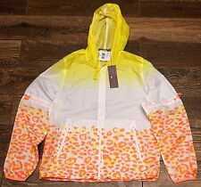 NEW Womens Adidas Stella McCartney Travel Pack Jacket White Yellow Z38849 Sz S-M