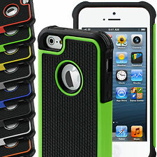 Silicone Shock Proof Hard Cover & Soft Hybrid Back Case For Apple iPhone 5 & 5s