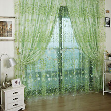 Fancy Hot Sheer Floral Voile Sheer Panel Drapes Curtain Voile Window Curtain L77