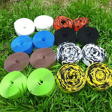 ROAD BIKE BICYCLE CORK HANDLEBAR BAR GRIP WRAP TAPE + 2 BAR PLUGS 15 COLORS BE