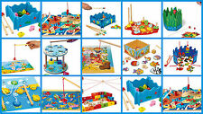 Fishing Game Magnetic Rods Fish Toy Children Kids Sea World Catch The Fish Game